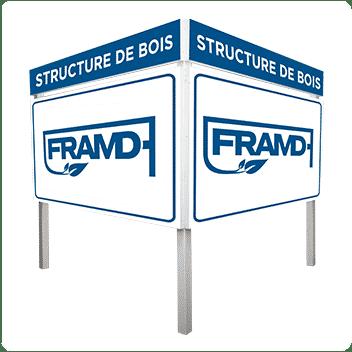 Structure de bois FRAMD